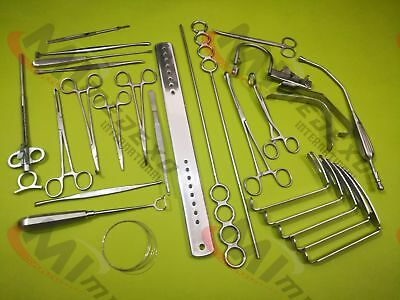 Tonsillectomy Set of 20 pcs Surgical Instruments A+ Premium Quality By Medexo