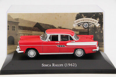 1:43 Scale Altaya Simca Rallye 1962 Toys Car Diecast Models Collection Auto Red
