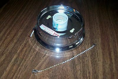 Art Deco Style Beaded  CHROME Fixture that works Great for 3 Chain Glass