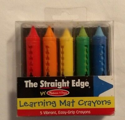 "Melissa & Doug ""The Straight Edge"" Learning Mat Crayons **Free Shipping**"