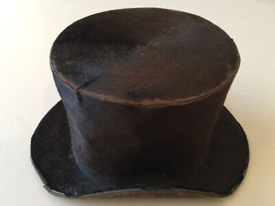 """1940s """"Napolean Bonapart"""" Military Shako* hat w Purlpe *Ostrich Fearther Plume*"""