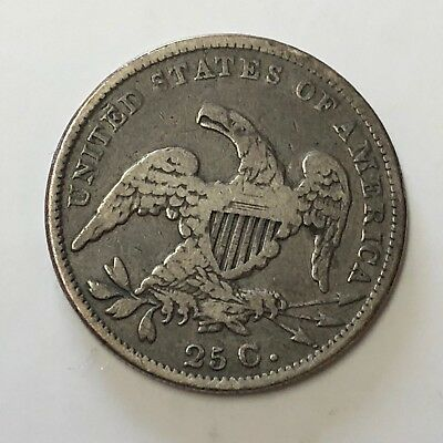 1831 Capped Bust QUARTER 25C - 90% SILVER Circulated VF+ CONDITION *Was Mounted*