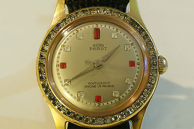 Excellent Condition Hardly Used Berg Parat Antichoc Ancre 19 Rubis Gents Watch