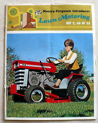 Vtg Massey Ferguson Lawn Motoring Brochure MF 7, 10 & 12 Mower Cigarette Lighter