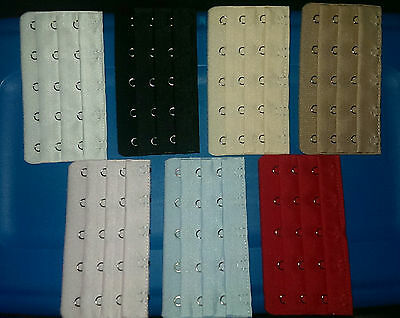 Soft Bra Extenders~YOUR CHOICE~5 Hooks 3 Rows Strap Band-7 Colors!-USA Shipping