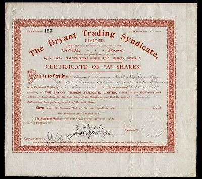Bryant Trading Syndicate Limited (1930)