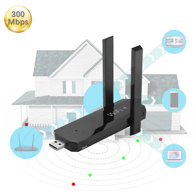 USB WiFi Range Extender 300Mbps Wireless Signal Booster with 2 Antennas AC1160