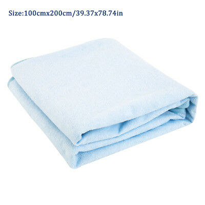 100*200cm Washable Reusable Bed Pad Incontinence Bed Wetting Mattress Protector
