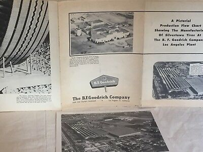 The B. F. Goodrich Company, The Manufacturing Steps Poster And Aerial Photo