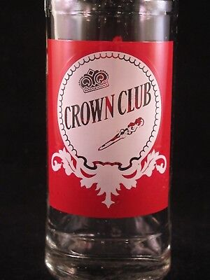 YAVA Glass - RARE Vintage Collectible CROWN CLUB Beverage Bottle