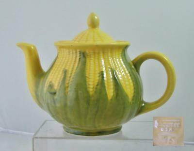 "Vintage Shawnee Pottery Corn King 6"" Teapot Tea Pot Coffee Good Condition Marked"