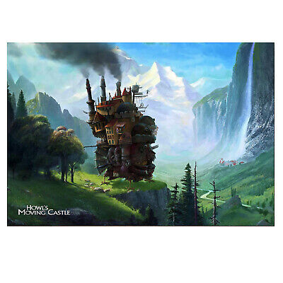 Howl's Moving Castle Poster - Studio Ghibli Anime Poster - High Quality Prints