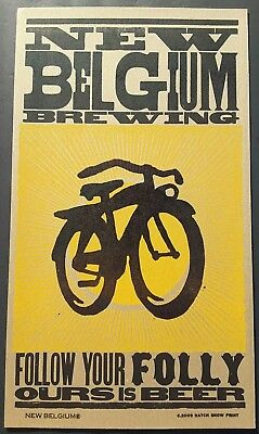NEW BELGIUM BREWING BEER HATCH SHOW PRINT 2009 ADVERTISING POSTER Bicycle Folly