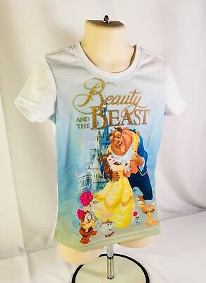 Official Disney Princess Beauty And The Beast T-Shirt Kids Girls (Size S 6/6x)
