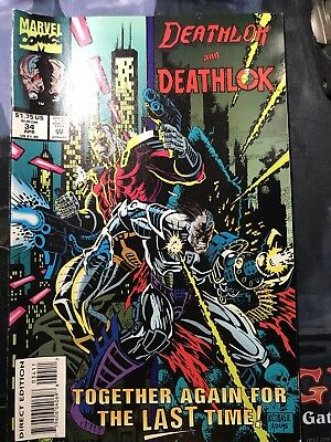 DEATHLOK AND DEATHLOK  #34 April 1994 Marvel Comic Bagged Boarded w/ Shipping