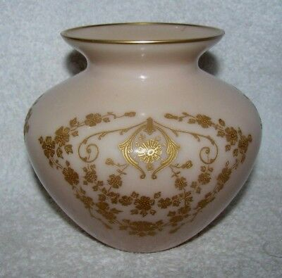 Cambridge Crown Tuscan 5 inch Globe Vase Diane Etched  Gold Encrusted BEAUTIFUL