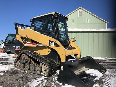 2006 Caterpillar 257B Compact Track Skid Loader Cat Heat  Clean Plow Snow !