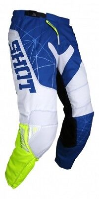 SHOT Mens Infinite Off-Road Motorcycle Pants - Blue/White/Neon Yellow 244-01085