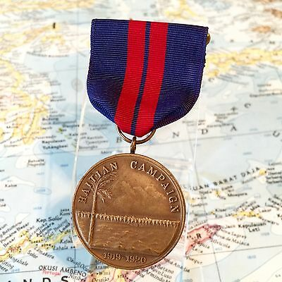 Marine Corps 1919 1920 Haitian Campaign Medal Slot Brooch Wwii Us Mint Contract