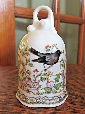 """Hutschenreuther  Germany """"september"""" Collector Bell"""