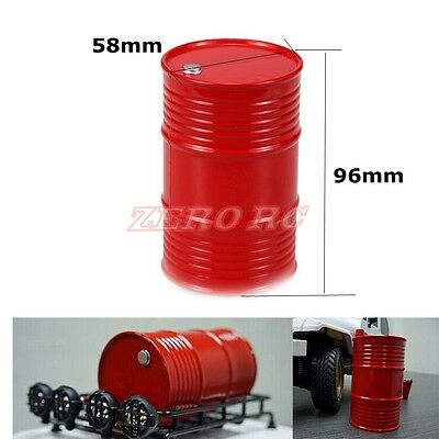 RC 1/10 Rock Truck Scale Accessory Fuel Oil Tank For Axial Wraith TRX-4 (RED)