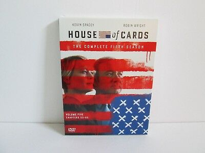 House of Cards: The Complete Fifth Season (DVD, 2017, 4-Disc Set) Sony Pictures