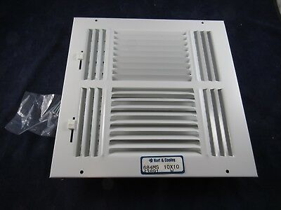 NEW Hart & Cooley 10x10 Metal White Vent Cover 4-Way Diffuser 684MS 43891