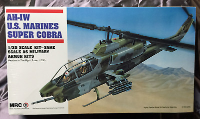 MRC - AH-1W U.S. MARINES SUPER COBRA (#BA100) 1/35 th SCALE HELICOPTER (SEALED)