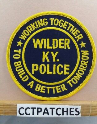 Wilder, Kentucky Police Working Together Shoulder Patch Ky New