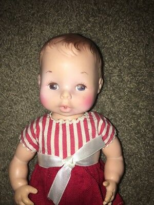 """Vintage 10"""" EVE Anatomically correct Baby Girl Doll Drink And Wet EEGEE"""
