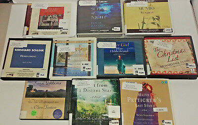 General Fiction Audio Books Lot of 10 on CD FREE SHIPPING Unabridged A-29