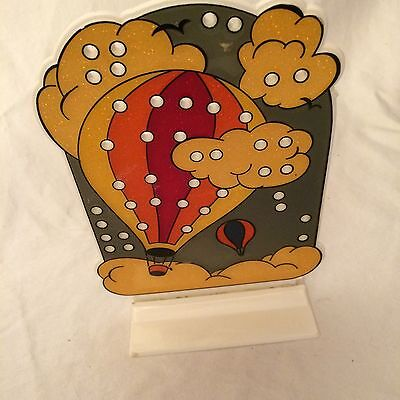 70's Style Vintage Hot Air Balloons Earring Jewelry Holder Fantastic Plastics