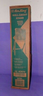 "Vtg NOS New Old Stock Air King Roll About Rolling Stand ONLY Use w/ 20"" Box Fan"