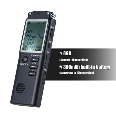Rechargeable LCD Digital Audio Sound Voice Recorder Dictaphone Music Player D7K9