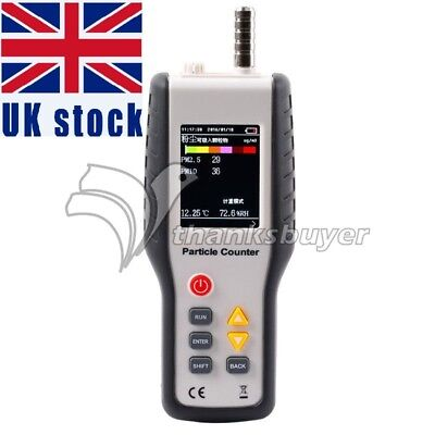 PM2.5 Detector Air Quality Monitor Particle Counter Gas Analyzer HT9600 UK Ship