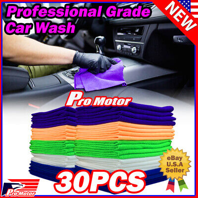 50 Pack Microfiber Cleaning Cloth No-Scratch Rag Car Polishing Detailing Towel
