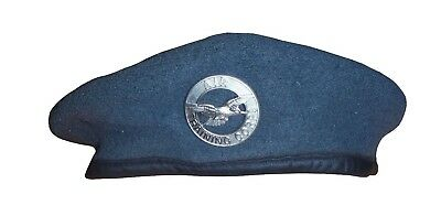 Army AIR CORPS  Beret With BADGE - 57CM - Army Issue - USED - SP3844