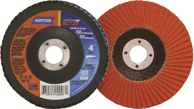 Norton BLAZE FLAP DISCS 125x22mm, 12000 Rpm *Australian Brand- 40, 60 Or 80 Grit