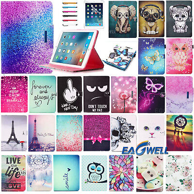 """For Samsung Galaxy Tab E 9.6"""" T560 T560NU T567 Smart Print Leather Case Cover"""