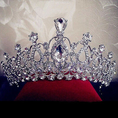 Wedding Bridal Crystal Rhinestone Hair Headband Crown Comb Prom Pageant Pop US