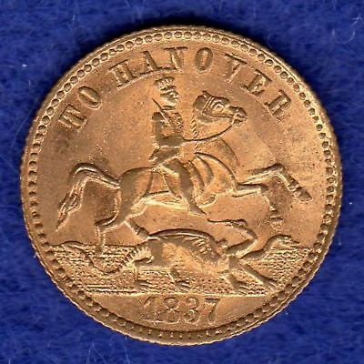 Victorian Gaming Counter, Half Sovereign 'To Hanover', 1837, Excellent Condition