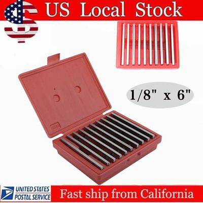 "Shars 1/8"" Steel Parallel Set 10 Pair Parallels .0002"" Hardened New Hot"