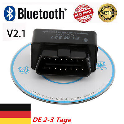 NEW Mini ELM327 V2.1 OBD2 II Bluetooth Diagnostic Car Auto Interface Scanner TM