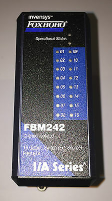 Foxboro Invensys FBM242 Output Module 16 Channel 2AMP 60VDC Relay
