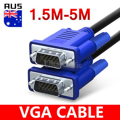 VGA cable male to male for PC Monitor LCD Laptop smart TV 5m 3m 1.5m VGA cable