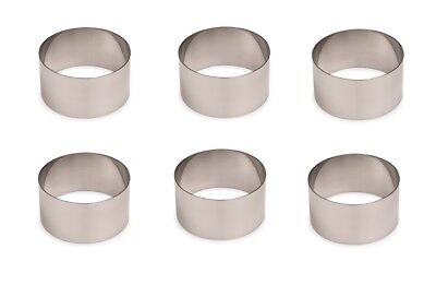 6x Moussering, Mousering, Backring, Tortenring, Backen, Durchmesser: 8,8 cm