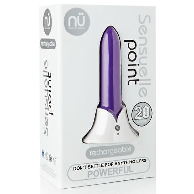 Sensuelle Point Bullet Style 20 Function Rechargeable Massager- Brand New PURPLE