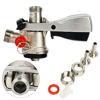 Beer Keg Tap Faucet System D Coupler Keg Coupler Pressure Relief Safety Device U