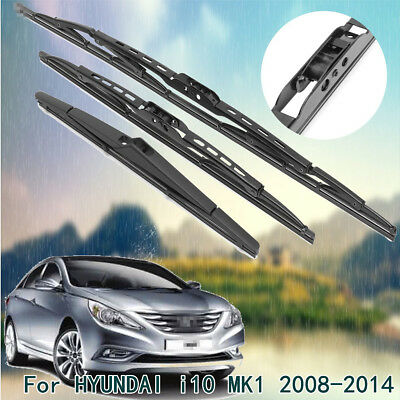 X Front Rear Windscreen Wiper Blades Complete Set For Hyundai I