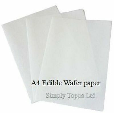 12 A4 sheets white semi-transparent edible paper wafer paper rice paper Baking